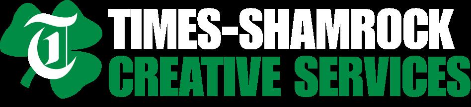 Times-Shamrock Creative Services Logo White